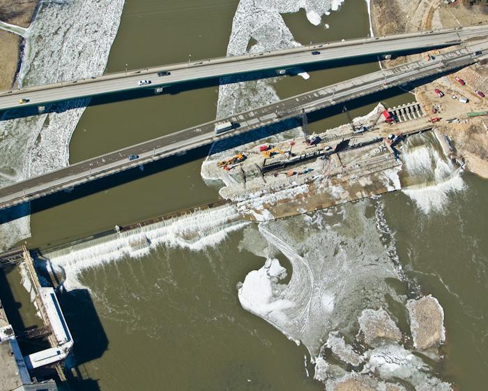 spillway concrete repairs