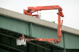 Easy Under Bridge Inspections with Snooper Trucks