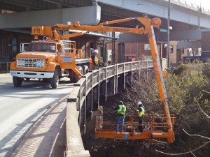 Snooper Truck Under Bridge Inspections