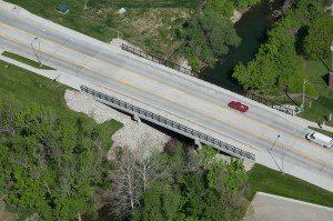 An overpass after completed construction y LG Barcus