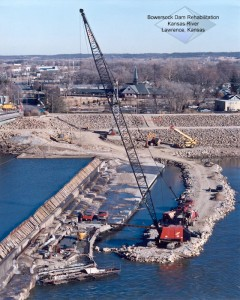 Heavy Marine Construction During Dam Rehab